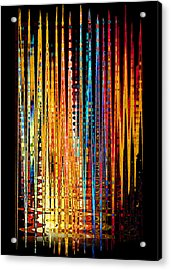 Acrylic Print featuring the digital art Flame Lines by Francesa Miller