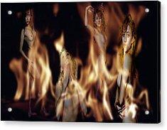 Flame Nymphs Acrylic Print