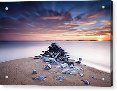 Acrylic Print featuring the photograph Flame On The Horizon by Edward Kreis