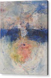 Acrylic Print featuring the painting Flame Reflections by John Fish