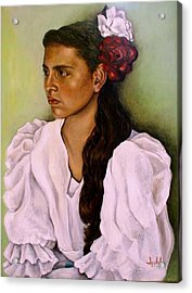 Flamenca Acrylic Print by Ixchel Amor