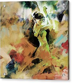 Acrylic Print featuring the painting Flamenco 56y3 by Gull G