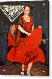 Acrylic Print featuring the painting Flamenco 8 by Donelli  DiMaria