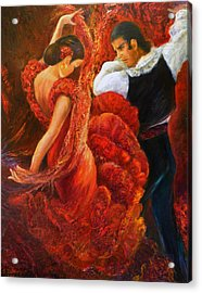 Flamenco Couple 2 Acrylic Print