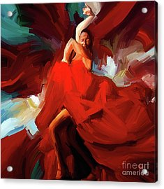Acrylic Print featuring the painting Flamenco Dance 7750 by Gull G
