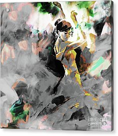Acrylic Print featuring the painting Flamenco Dance Art 7u7 by Gull G