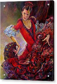 Flamenco Dancer 10 Acrylic Print