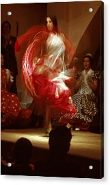 Flamenco Dancer In Seville Acrylic Print