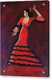Flamenco Dancer Acrylic Print by Janine Antulov