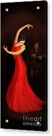 Flamenco Dancer Acrylic Print