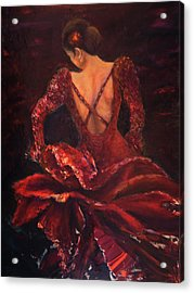 Flamenco Dancer Ma Acrylic Print