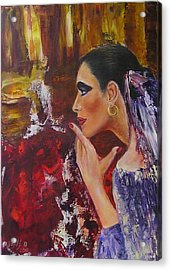Flamenco Dancer  Mb Acrylic Print