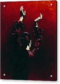 Flamenco Fire Acrylic Print