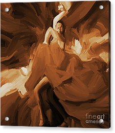 Acrylic Print featuring the painting Flamenco Flamenco  by Gull G