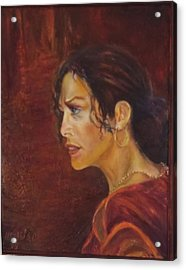 Flamenco Girl 1 Acrylic Print