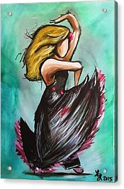Flamenco Acrylic Print by Loretta Nash
