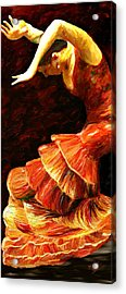 Acrylic Print featuring the painting Flamenco Poise 2 by James Shepherd