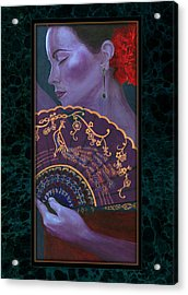 Acrylic Print featuring the painting Flamenco  by Ragen Mendenhall