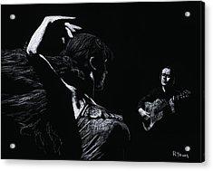Flamenco Recital Acrylic Print by Richard Young