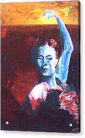 Flamenco Seco Acrylic Print by LB Zaftig