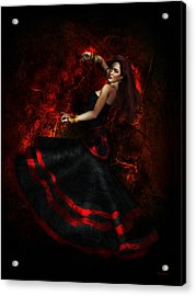 Flamenco Acrylic Print by Shanina Conway