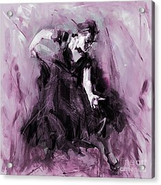 Acrylic Print featuring the painting Flamenco Spanish Dance Art by Gull G