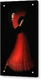 Flamenco Acrylic Print by Viktor Korostynski