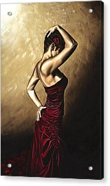 Flamenco Woman Acrylic Print by Richard Young