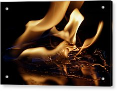 Acrylic Print featuring the photograph Flames And Ice by Rico Besserdich