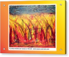 Flames Inferno On A Nice Background - Postcard Acrylic Print by Sascha Meyer
