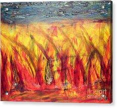 Flames Inferno Acrylic Print by Sascha Meyer