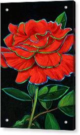 Flaminco Rose Acrylic Print by Billie Colson