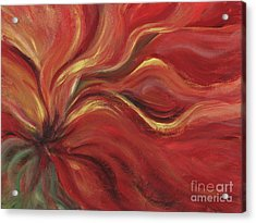 Flaming Flower Acrylic Print by Nadine Rippelmeyer