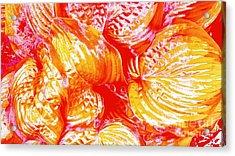 Flaming Hosta Acrylic Print