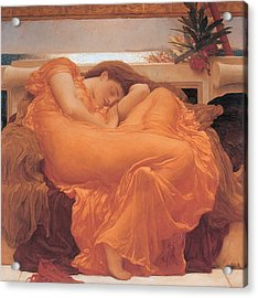 Flaming June - 1895 Acrylic Print by Lord Frederic Leighton