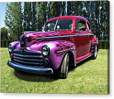 Flaming Rose Hot Rod Acrylic Print
