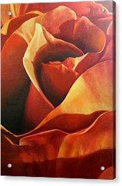 Flaming Rose Acrylic Print