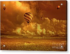 Acrylic Print featuring the photograph Flaming Sky by Charuhas Images