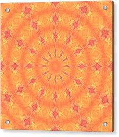 Acrylic Print featuring the digital art Flaming Sun by Elizabeth Lock