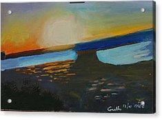 Flaming Sunset   Acrylic Print by Harris Gulko