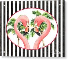 Flamingo Amore 5 Acrylic Print by Debbie DeWitt