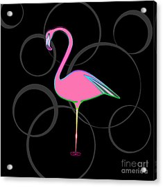 Flamingo Bubbles No 1 Acrylic Print