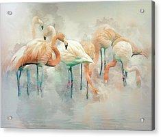Flamingo Fantasy Acrylic Print