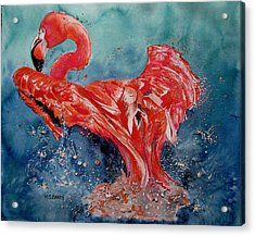 Flamingo Inflight Acrylic Print