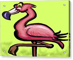 Acrylic Print featuring the painting Flamingo by Kevin Middleton