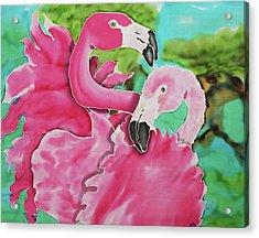 Flamingo Passion Acrylic Print