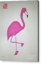 Flamingo Pink Acrylic Print