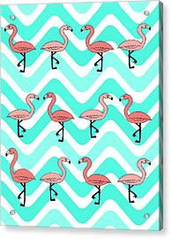 Flamingo Two Step Acrylic Print