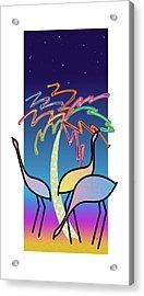 Flamingos Acrylic Print by Steve Ellis