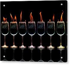 Flamming Glasses Acrylic Print by Brian Guiler